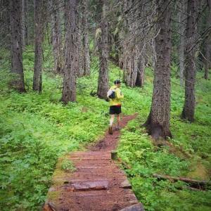 Pascal enjoying the gorgeous trails.
