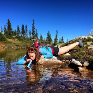 The lifestraw in action. Photo credit: Jamie Douglas
