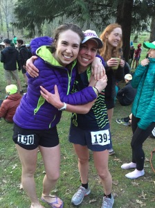 Post race hug with Tara. So proud!